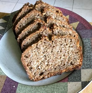 sourdough rye-wheat bread schwarzbrot